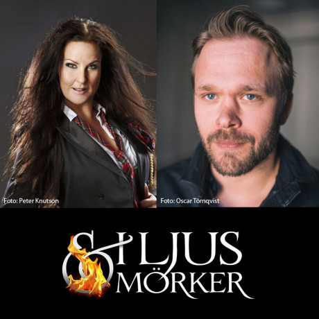 Joakim Nätterqvist och Nina Söderquist klara för höstens stormusikal I Ljus & Mörker.