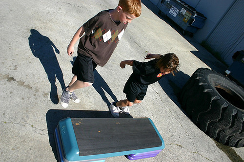 box jump, depth jump, youth kids